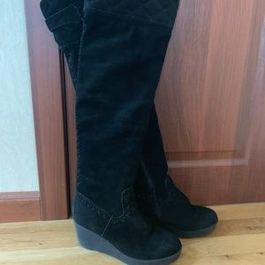 Juicy Couture Women's Boots Black Suede 7.5